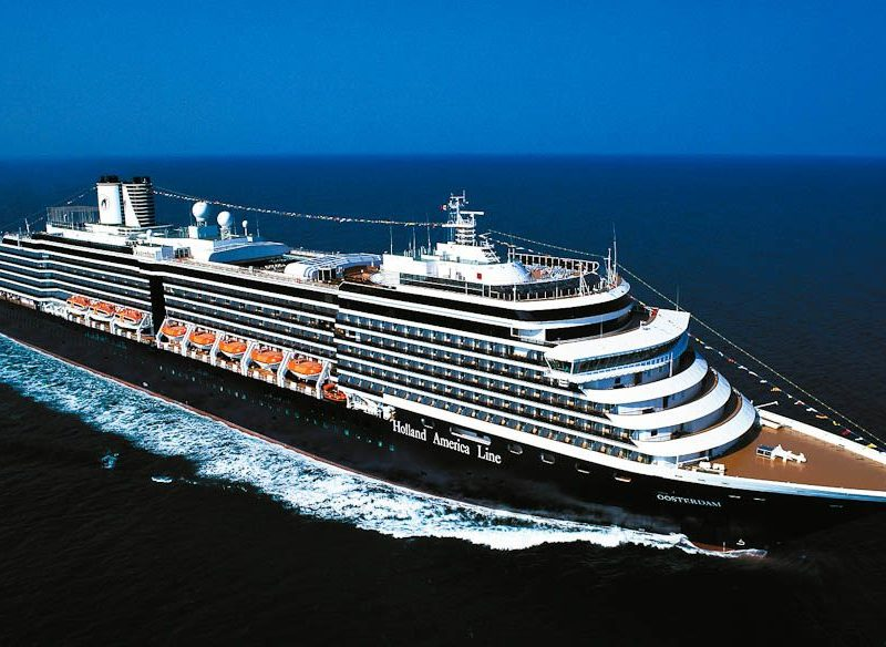 Holland America's MS Oosterdam on the open ocean (cruise)