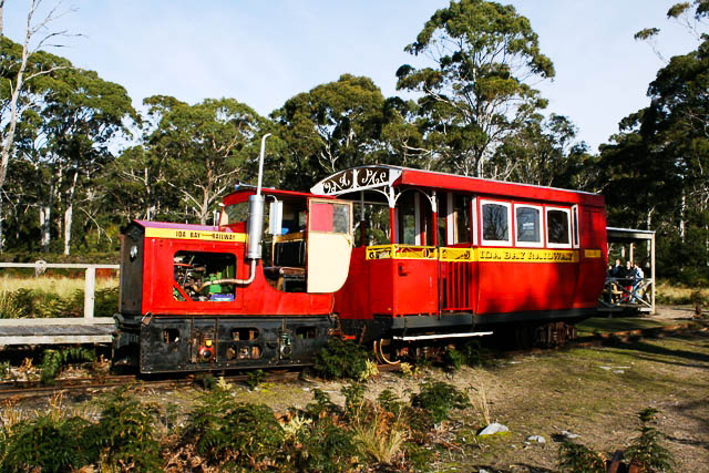 The quaint Ida Bay Railway in Tasmania (Rodney Avery).