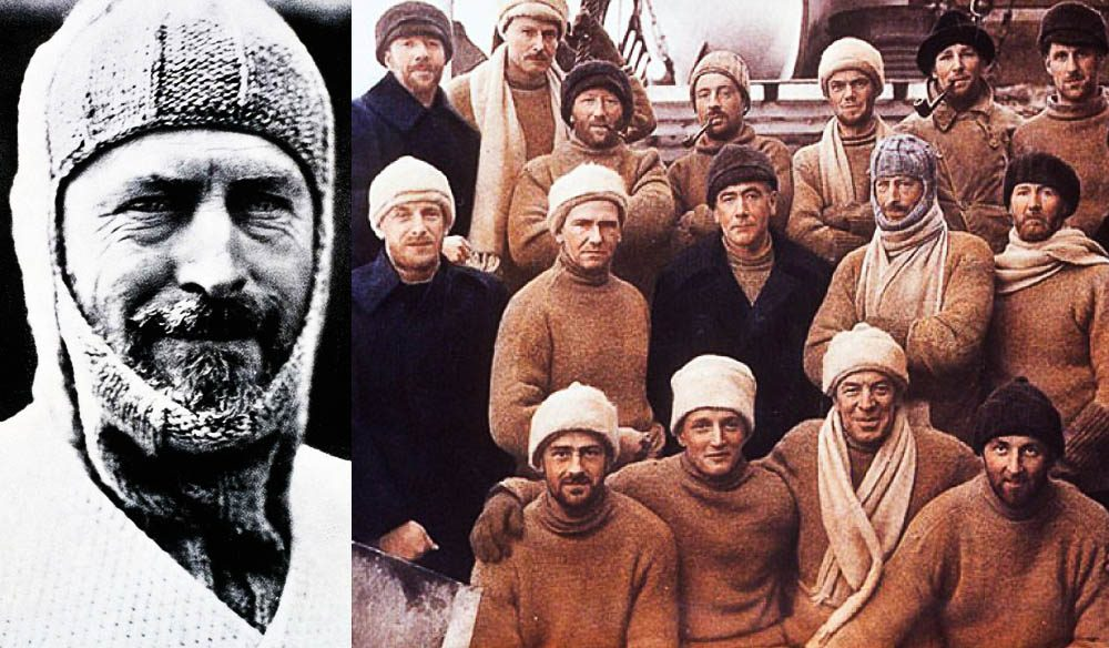 The original Australasian Antarctic Expedition lead by Sir Douglas Mawson.