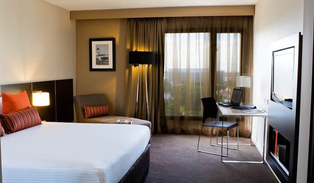 New Room, New Name: One of the revamped rooms at Mercure Sydney 'International' Airport.