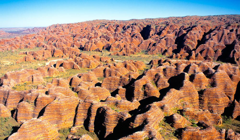 Taking in magnificent Purnululu National Park by air on a day trip from Broome.