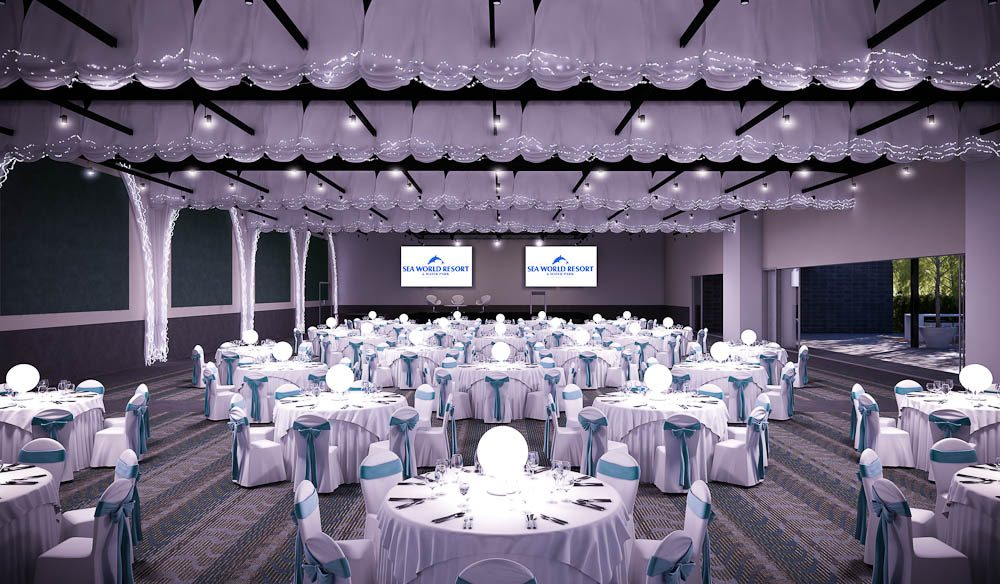 The Ballroom: An artist's impression of the new Seaworld Convention Centre, due for completion by 2015.