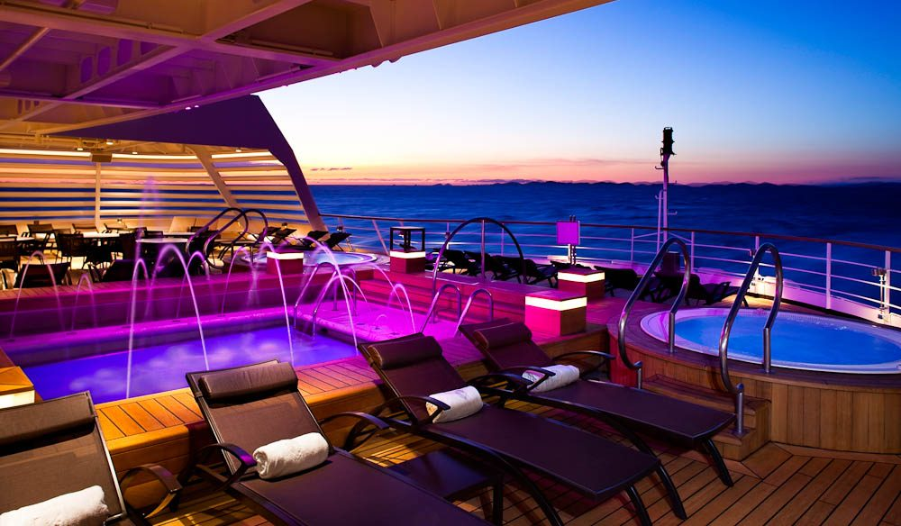 Aft Pool Deck, Seabourn Quest cruise