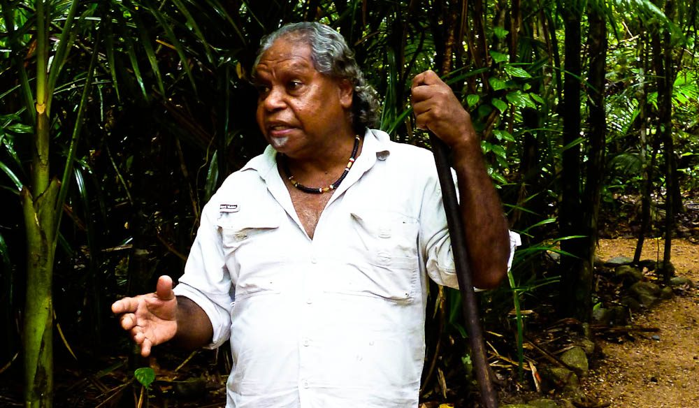 Mossman Gorge guide Uncle Roy Gibson.