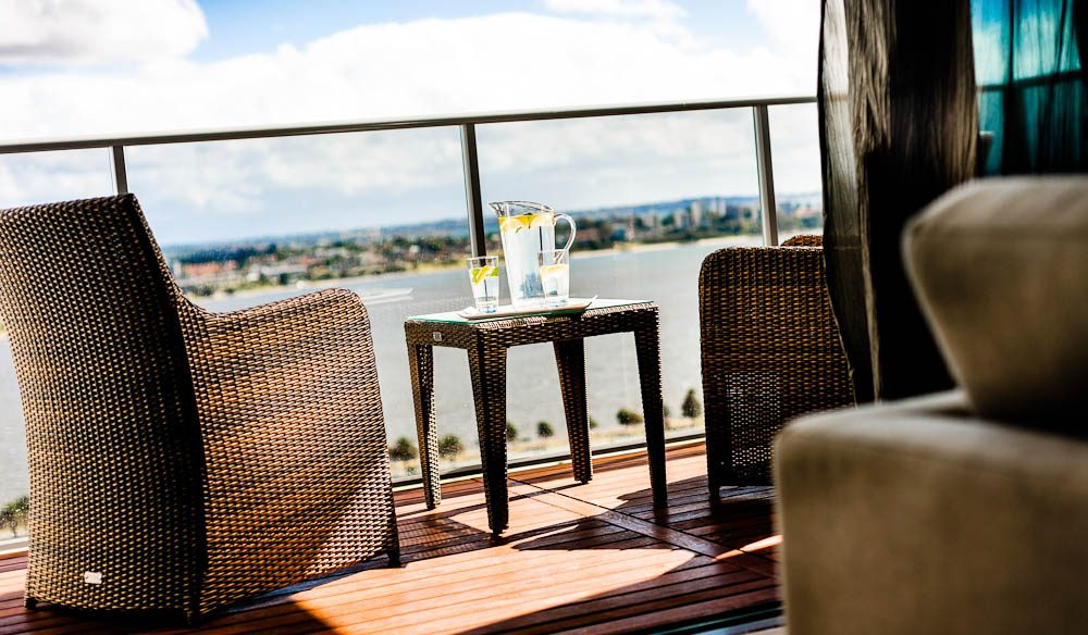 Swan view, Fraser Suites, Perth
