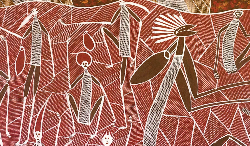 One of the many pieces of Indigenous art throughout Cicada Lodge.