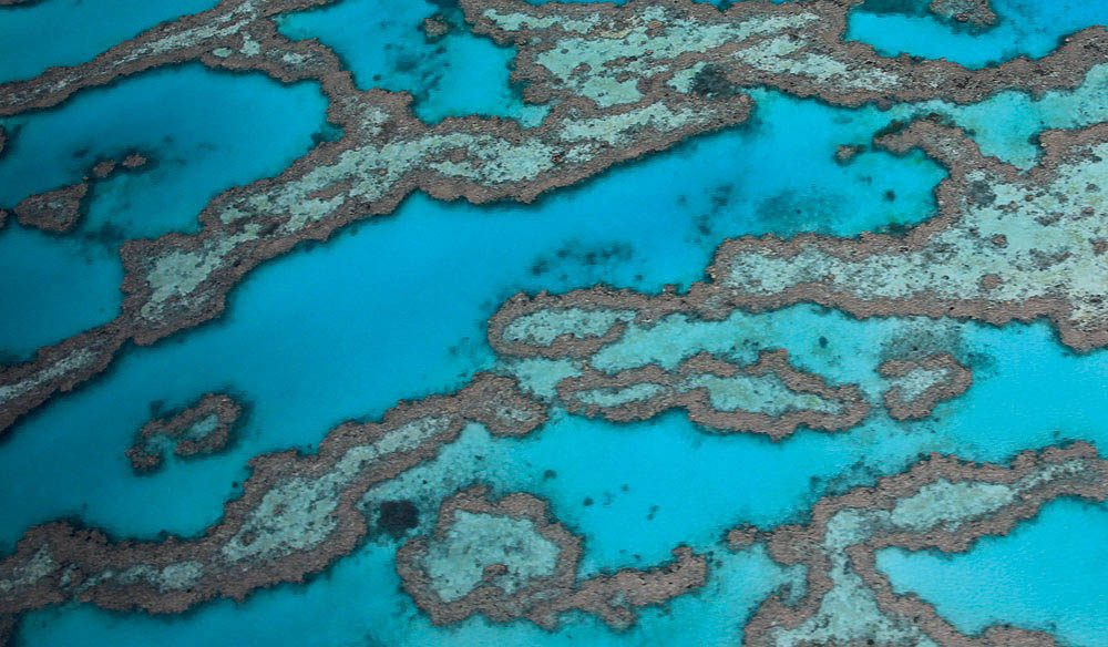 The Great Barrier Reef, off the coast of Gladstone, Queensland