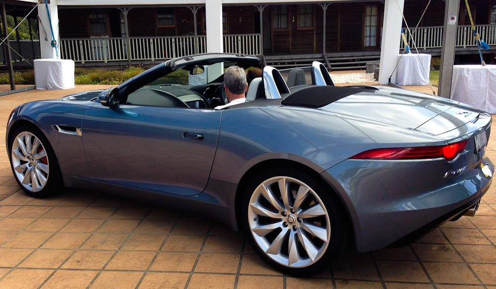 The Jaguar F Type convertible.