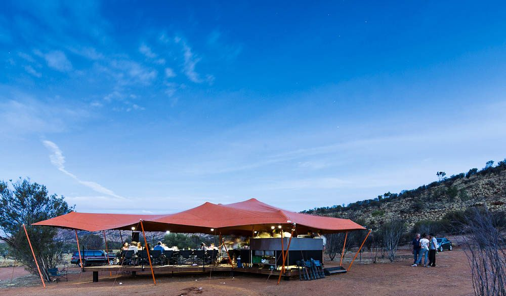 Out of the blue: The camp Larapinta campsite.
