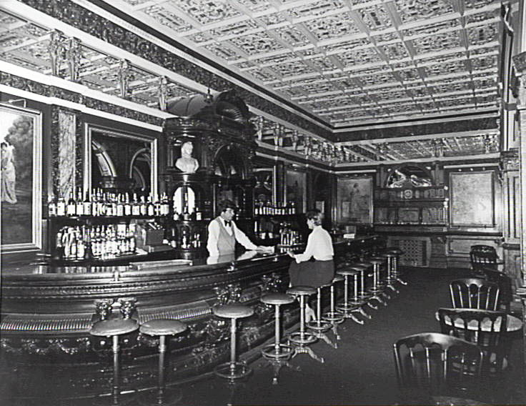 Sydney's historic Hilton-hotel-based Marble Bar, back in the day.