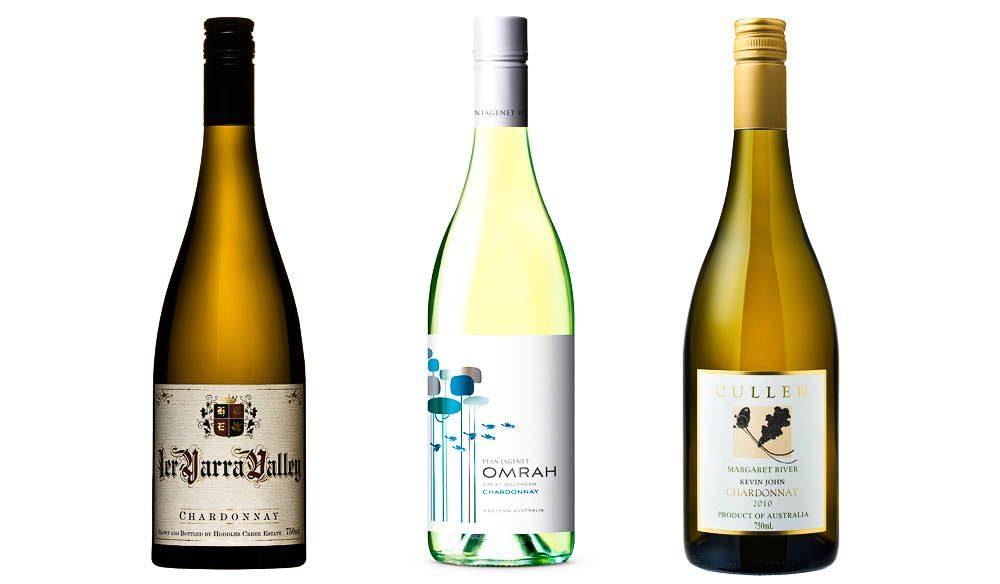 2011 Hoddels Creek 1ER Chardonnay, Yarra Valley, Vic;  2011 Omrah Chardonnay, Great Southern, WA; 2010 Cullen Kevin John Chardonnay, Margaret River, WA