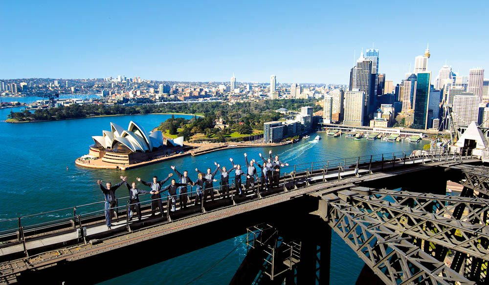 Sydney Harbour Bridge Climb is a go-to present for active Dads.