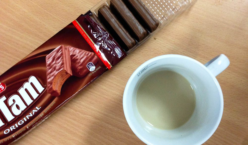 Deadline Fuel: Coffee and chocolate. Vitamins need not apply.