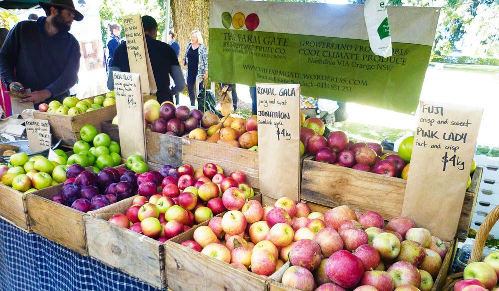 Orange's local fruits: apples, cherries, stonefruit but, alas, not oranges.