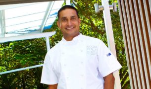 Peter Kuruvita outside his new restaurant Beach House at Noosa.