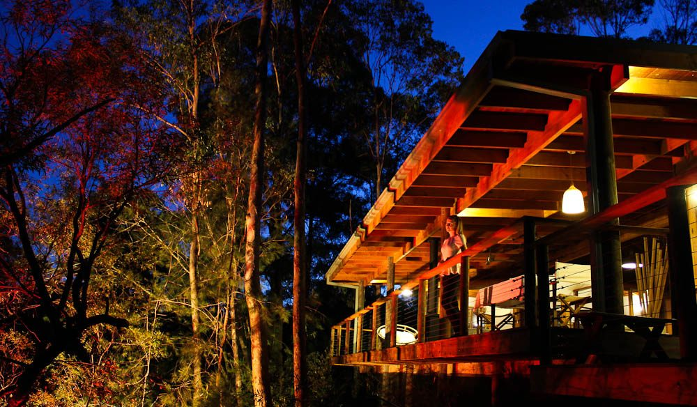 The cabins at Billabong Retreat is hidden within 12 acres of bush land in the Wollemi National Park, NSW.