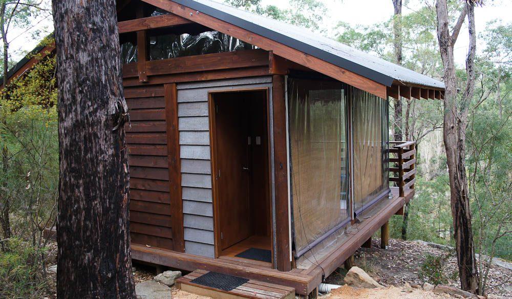 Bushland cabin at Billabong Retreat, near Wollemi National Park.