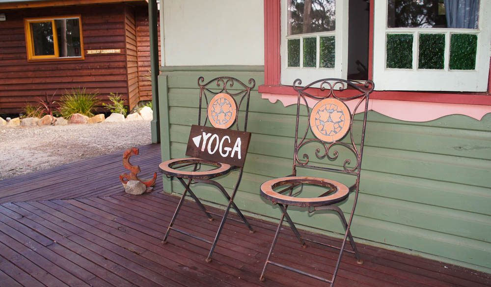 Yoga this way... but only if you feel like it - Billabong Retreat.