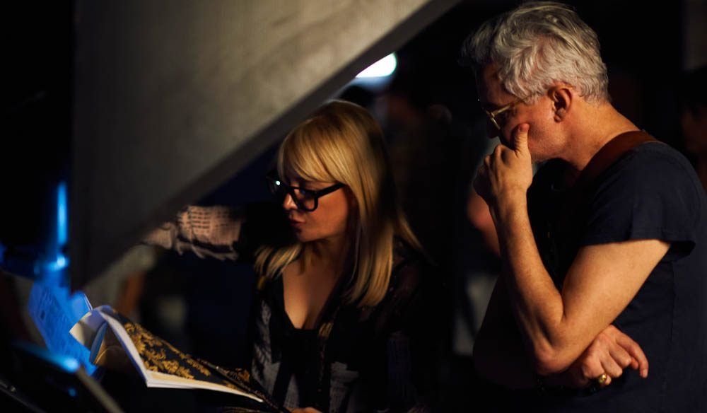 Catherine Martin working with husband and director Baz Luhrmann.