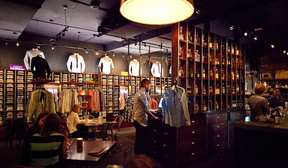 The Shirt Bar, Sussex Lane - A beverage and a bespoke fitting.