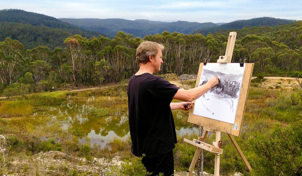 Australia's first sketchbook drawing trail in the Blue Mountains.