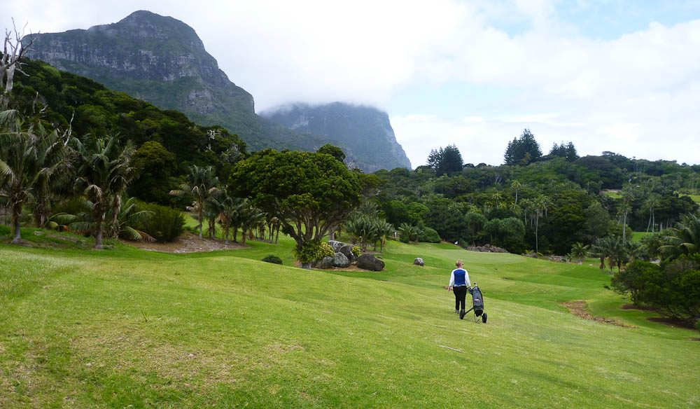 Probably more golf carts than cars on Lord Howe Island.