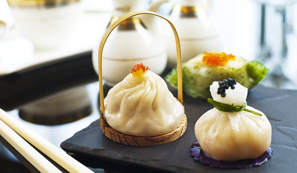 Silks' signature Steamed Lobster and Caviar Dumplings