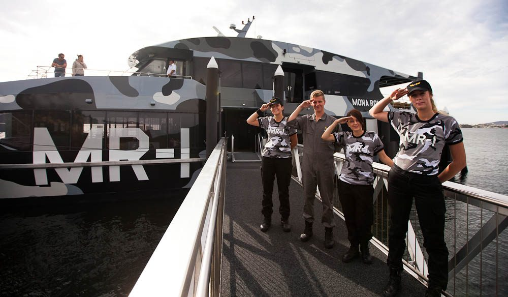 Fast and efficient - The MONA Roma Fast Ferry from Hobart