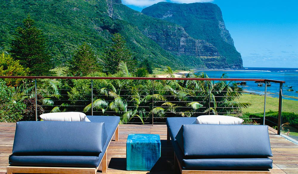Ready to recline: Capella-Lodge, Lord Howe Island.