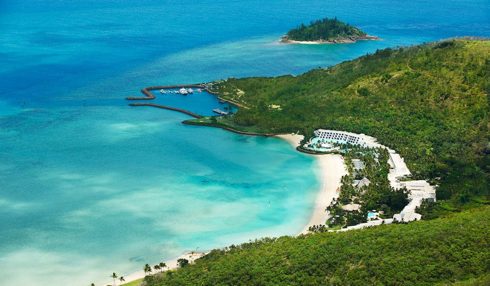 Green-eyed envy - Aerial of the must-see island resort