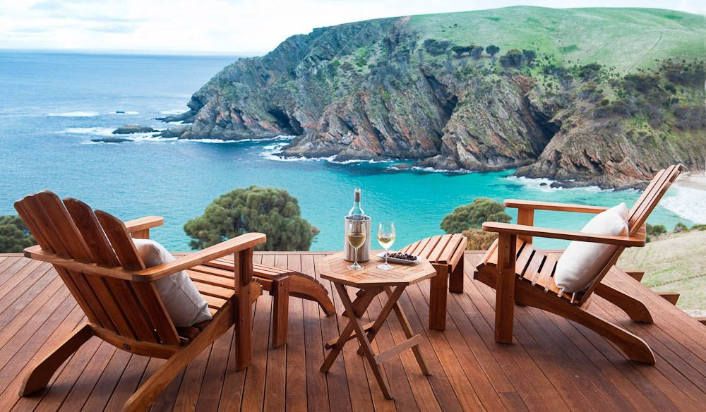 Top Deck: Kangaroo Beach Lodges, Kangaroo Island.