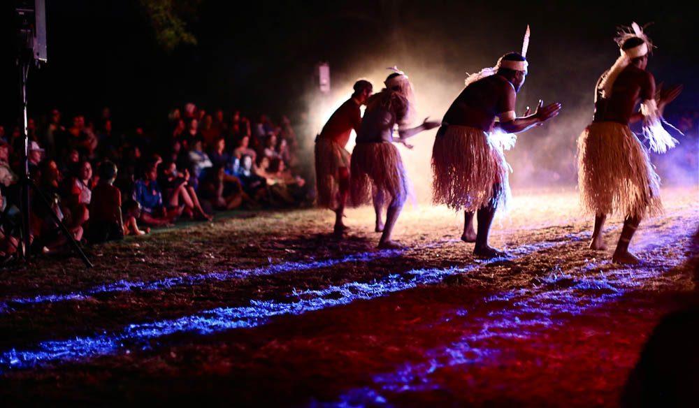 'Lockhart River Dancers at night' - Laura Dance Festival, 2013 (Jennifer Pinkerton).