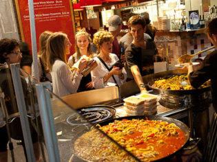 Melbourne Night Market food
