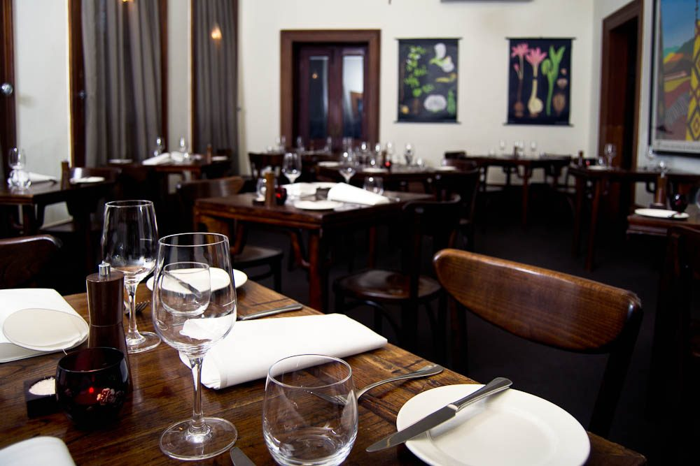 Intimate: The Provenance dining room.