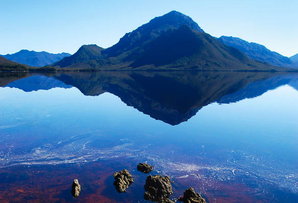 Remote control: Near Port Davey Wilderness Camp, Tasmania.