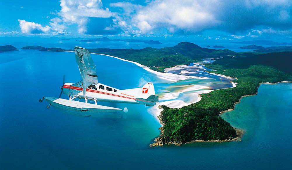 Flight of fancy: Hill Inlet & Whitehaven Beach, Whitsunday Island.