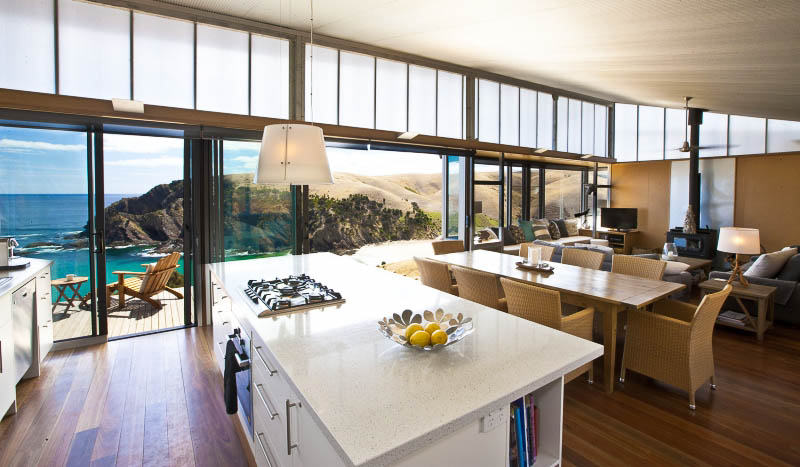 Kitchen and Living Room: Kangaroo Beach Lodges, Kangaroo Island.