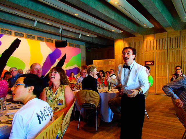 Manuel bumbles his way around Faulty Towers The Dining Experience at Sydney's Opera House.