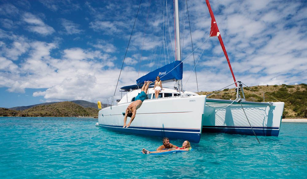 You can sleep up to eight people on many of the Whitsundays 'bare' boats.