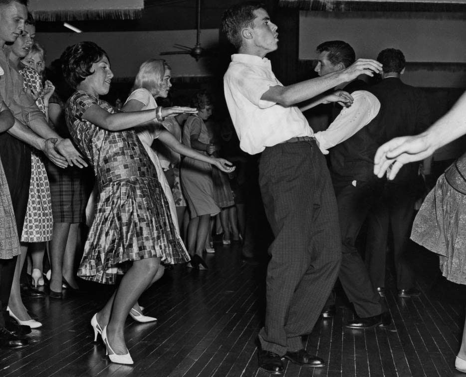 The twist wound its way up in Australian dance halls around 1961.
