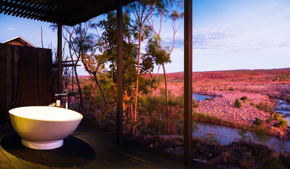 Survey the Kimberley from your eggshell bath at El Questro - just like Ewan McGregor did.
