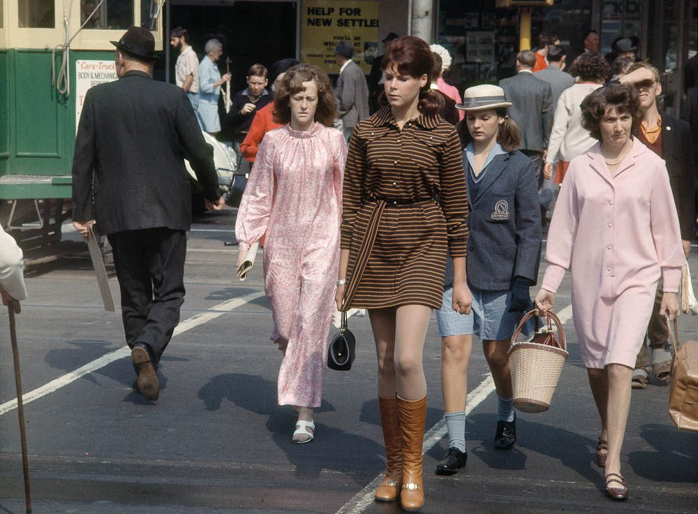Minis, maxis, mid-calf dresses and jumpsuits in mid-60s Melbourne.
