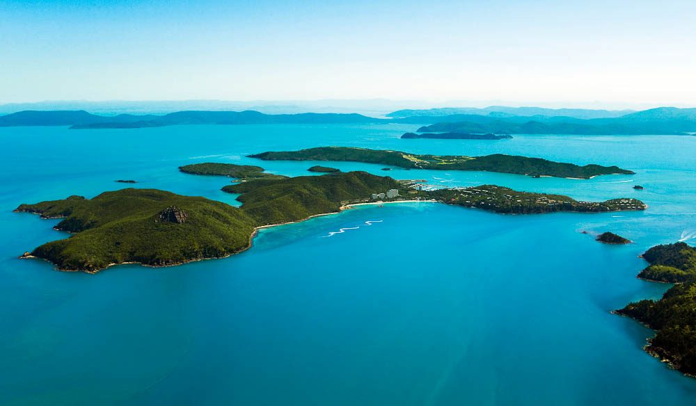 Hamilton Island has come a long way since the 80s - not that you can tell from this height.