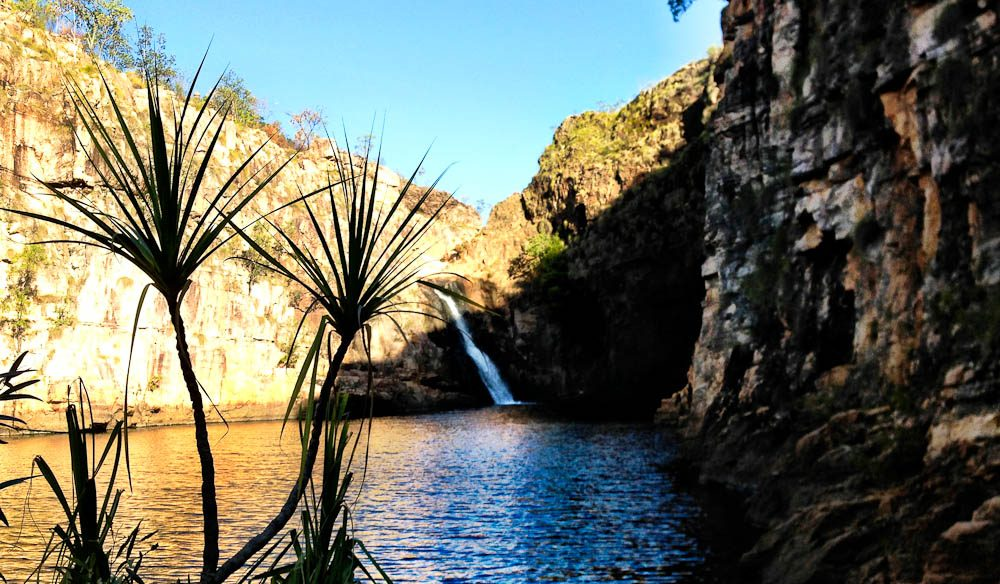 The plunge pool at Maguk Gorge, Kakadu (formerly known as Barramundi Gorge).