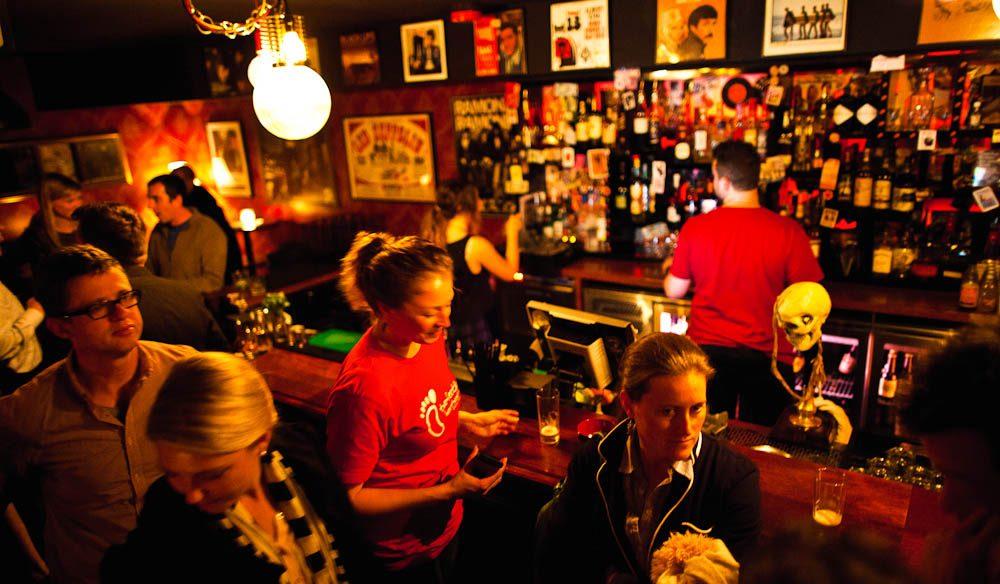 It's all about the r-o-c-k at Mojo Record Bar on York Street.
