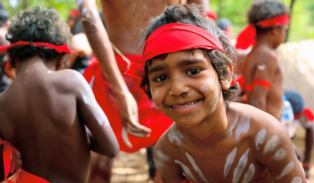 A young Mayi Wunba dancer from Kuranda