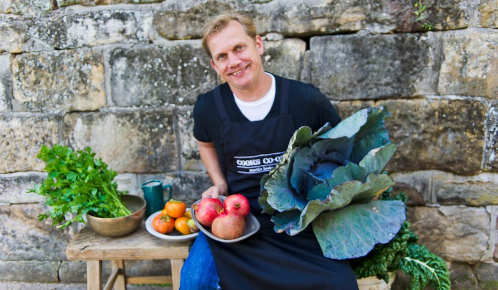 Martin knows his produce for Rushcutters is farm fresh - because much of it comes from his own Cooks Co-op.