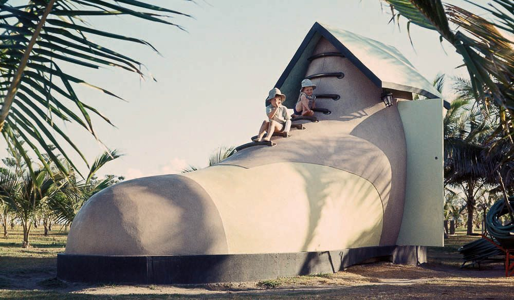Old woman's shoe, Harbour Beach,  Mackay - every park had its own monument back in the 60s.