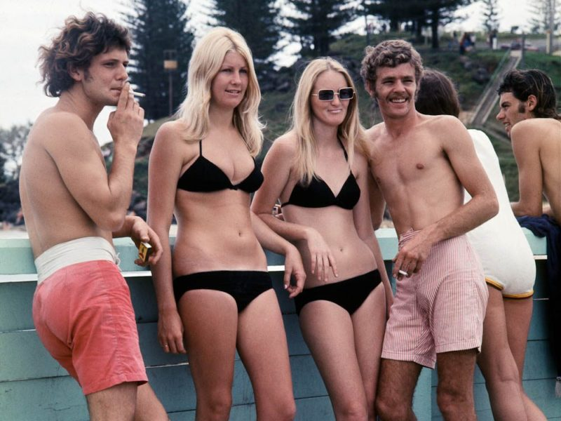 Sun and smokes at Coolangatta in the 60s.