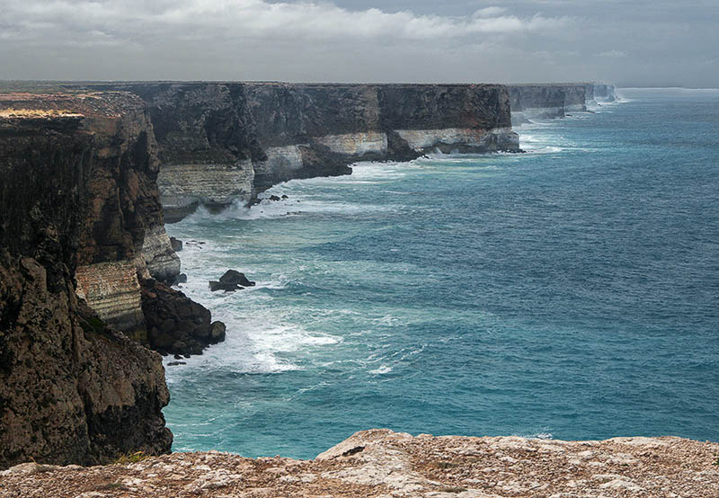 The Eyre Highway is not all about the barren plain, hugging the Great Australian Bight for a stretch.